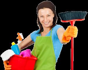 anlita en hushållerska från en städfirma för ett renare hem